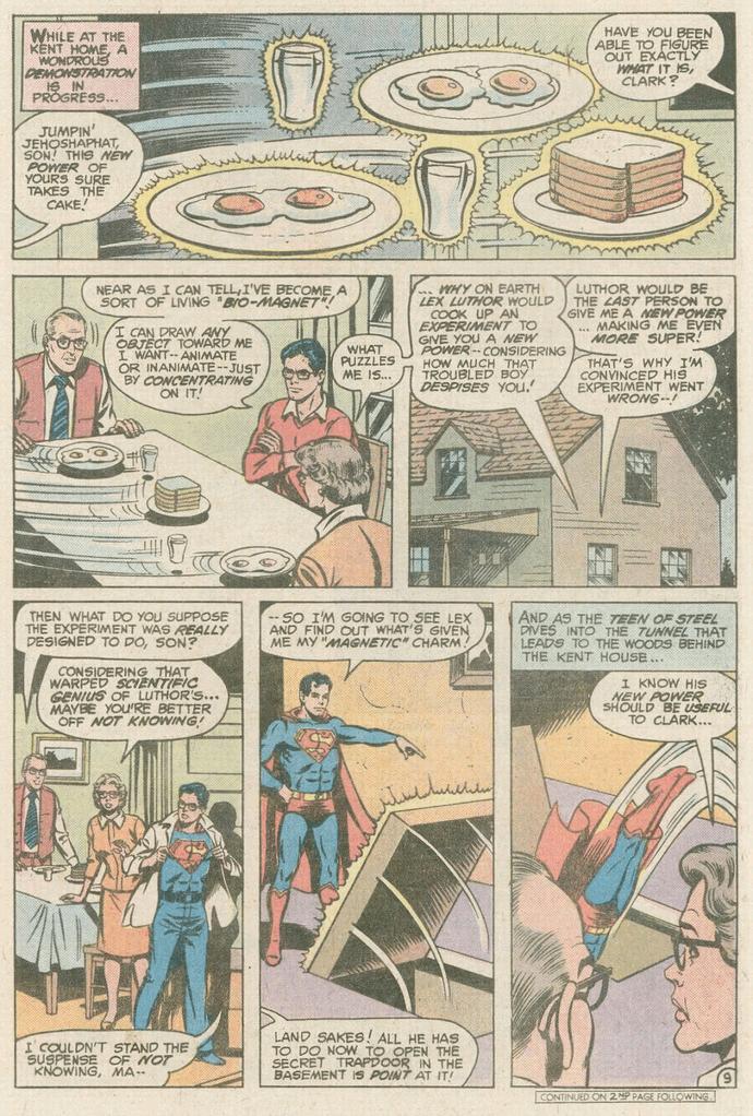 Superman điều khiển từ trường như Magneto