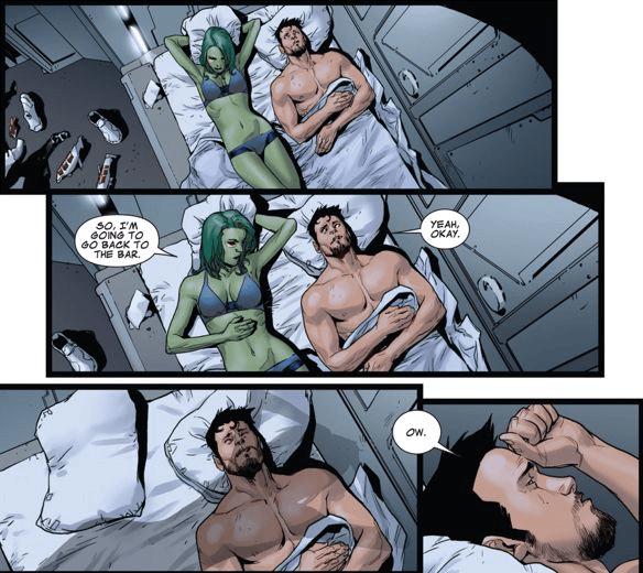 Gamora và Tony Stark