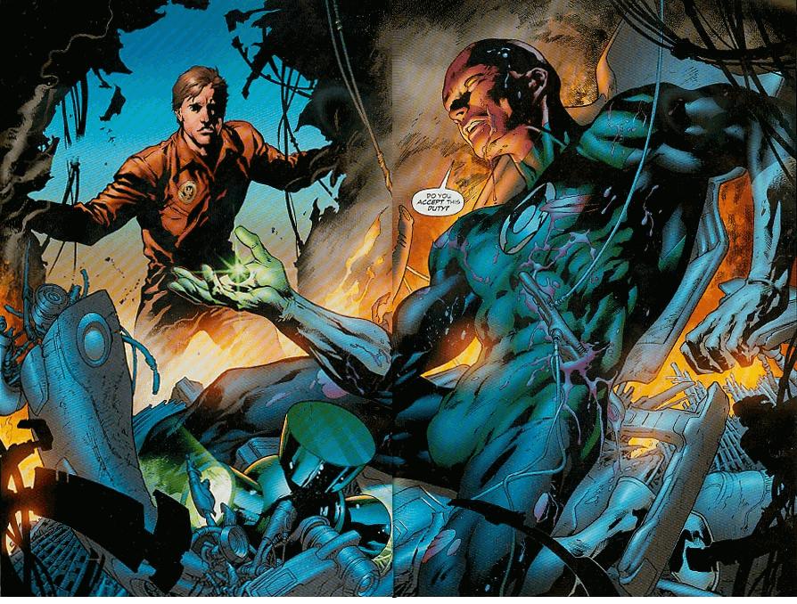 Hal Jordan tìm thấy Abin Sur