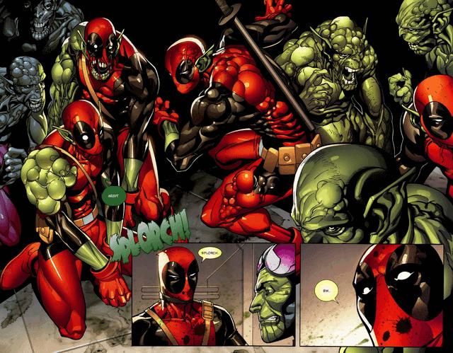 Nhóm chiến binh Skrull cấy tế bào của Wade