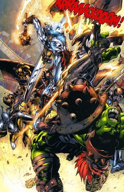 Surfer gặp Hulk trên hành tinh Sakaar