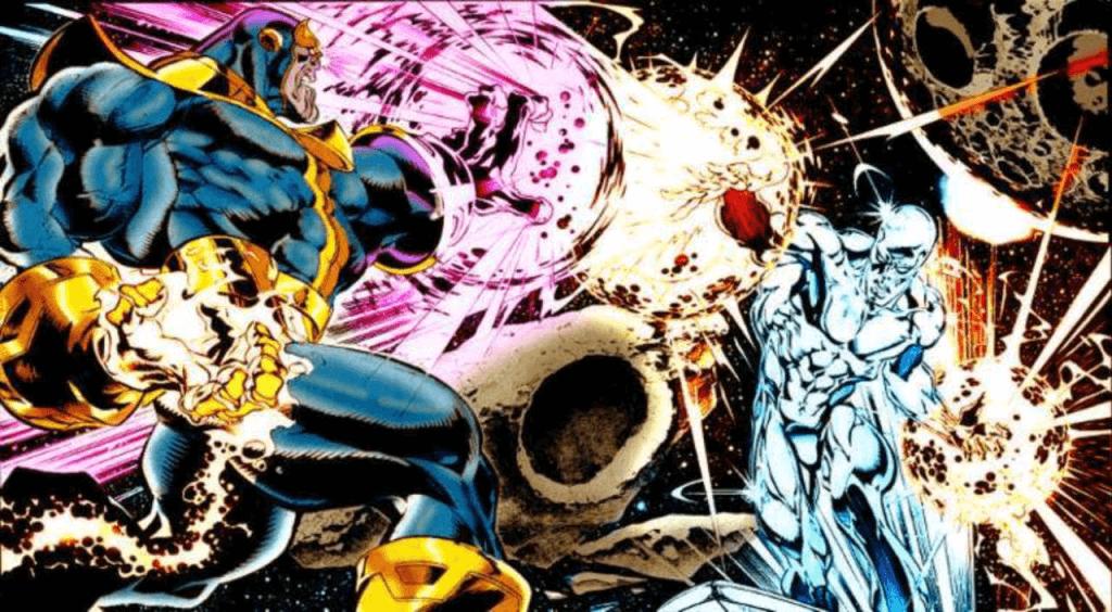Thanos và Silver Surfer
