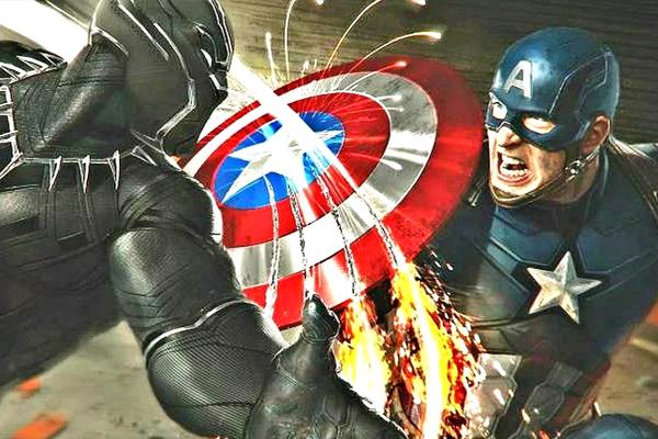 Cap và Black Panther trong Civil War