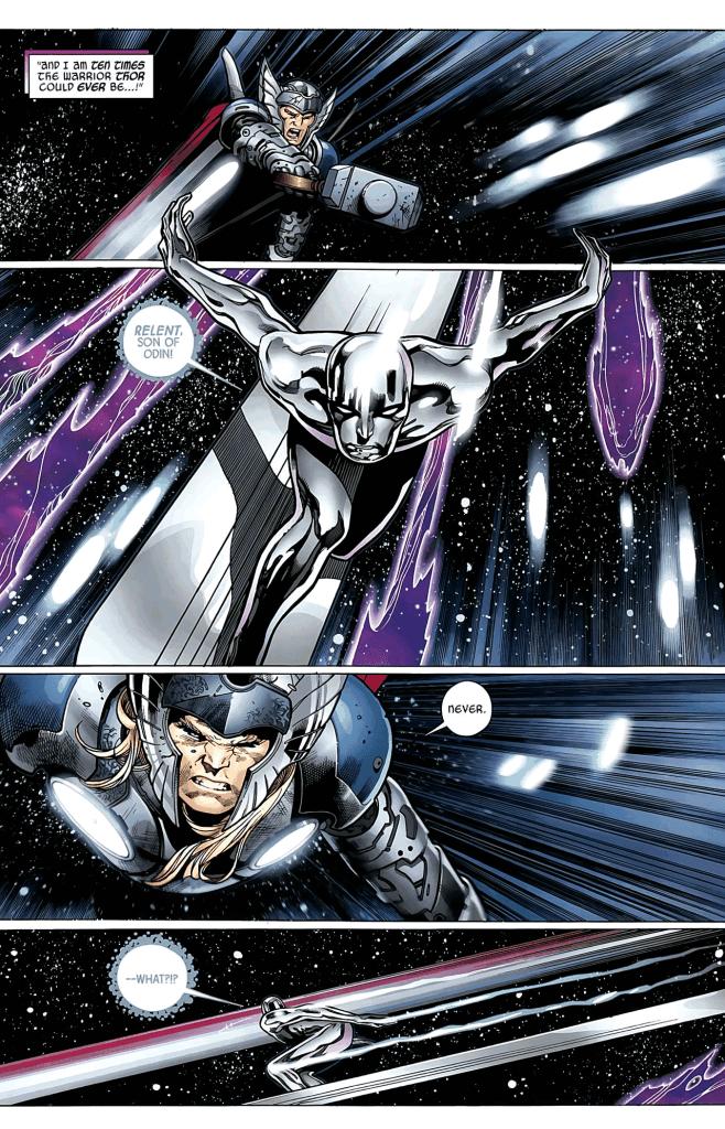Thor cho Silver Surfer hít khói