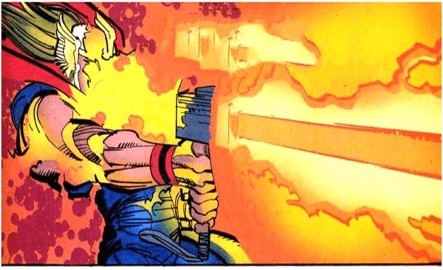 Thor tạo ra vụ nổ năng lượng
