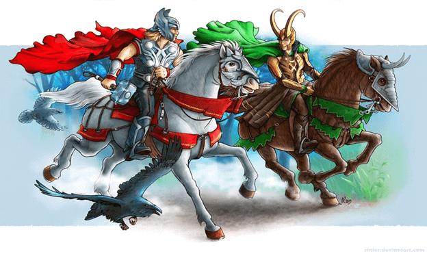 Thor cưỡi ngựa