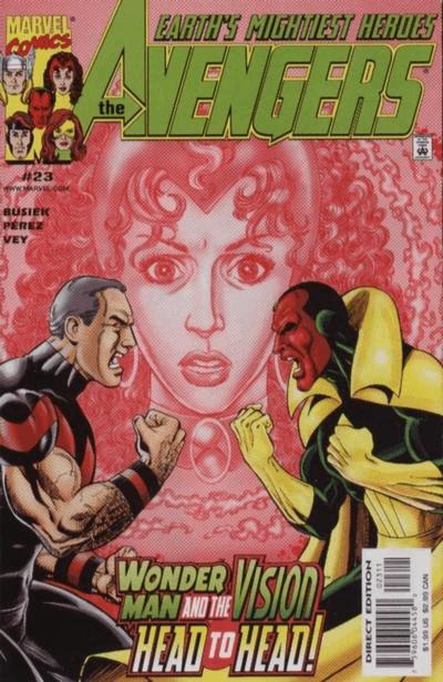 Wonder Man tranh cãi với Vision