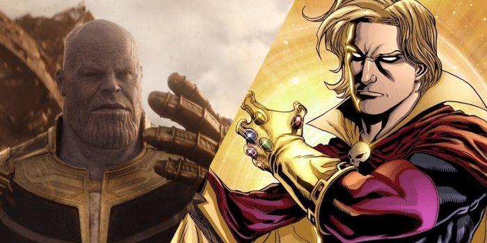 Thanos và Adam Warlock