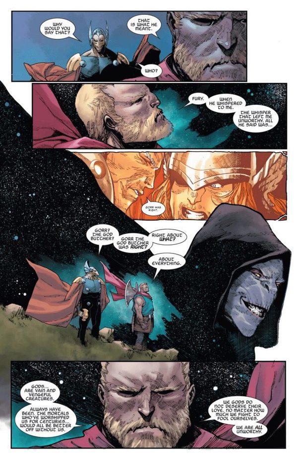 """Trong Unworthy Thor #5, Thor thừa nhận: """"Tất cả chúng ta đều không xứng đáng"""
