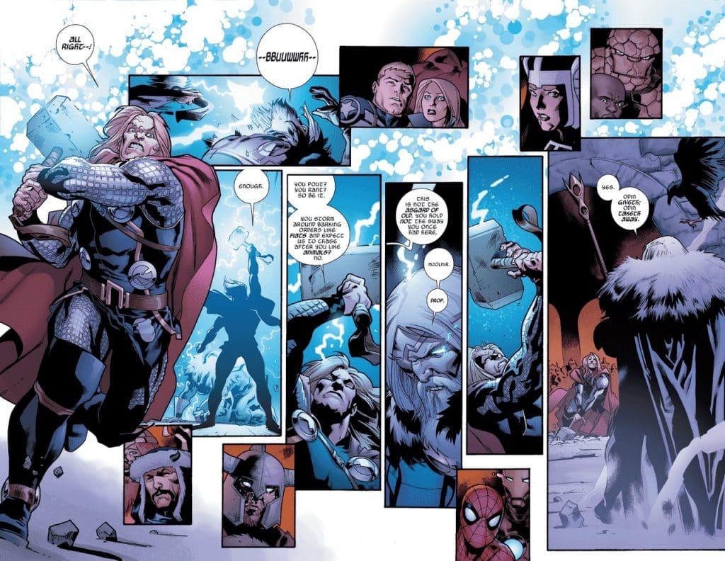 Odin ngăn Thor cầm Mjolnir