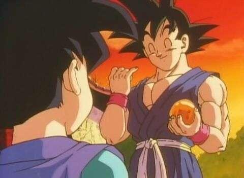 Goku jr gặp ông tổ Goku