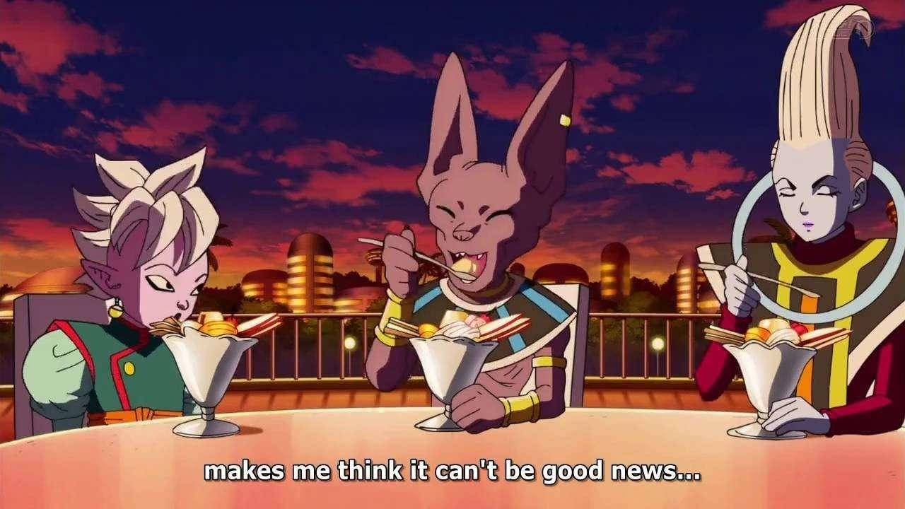 Shin vs Beerus đang bàn bạc về âm mưu của Zamasu