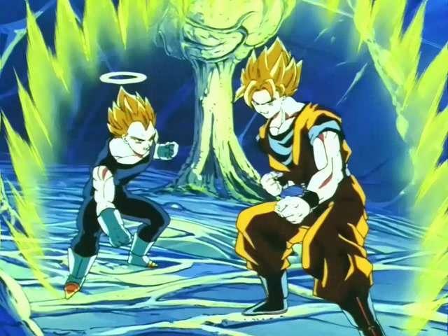 Goku và Vegeta bị tách ra trong bụng của Buu