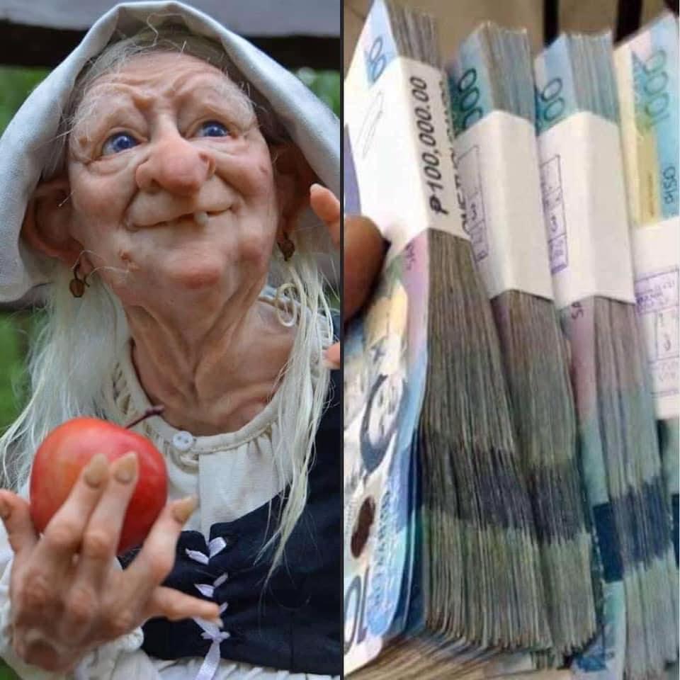Chia sẻ ảnh Yêu tinh may mắn và tiền liệu có tiền thật không?