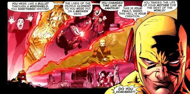 Thawne giải thích rằng viêc Barry quay ngược thời gian đã gây ra xáo trộn