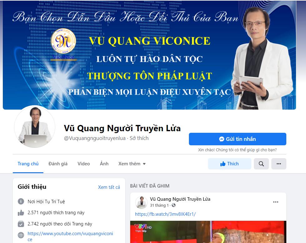Facebook của Vũ Quang Viconice