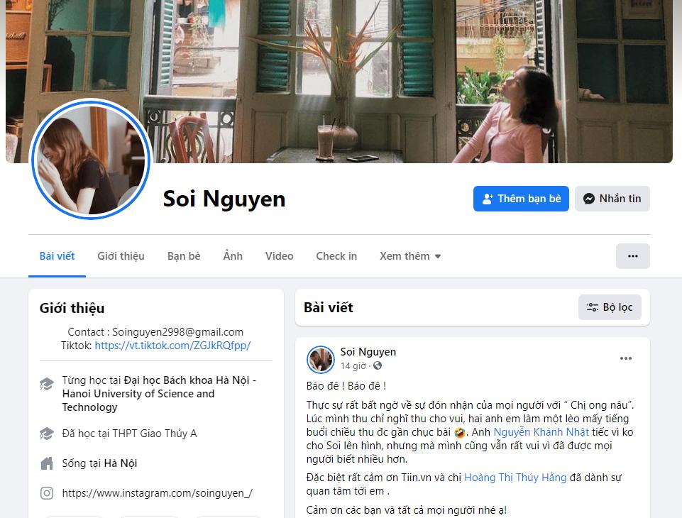 Soi Nguyễn cũng đang rất hào hứng với độ Hot tác phẩm Chị Ong Nâu