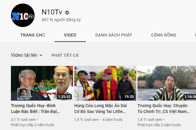 Các Video có số View lên tới hàng triệu